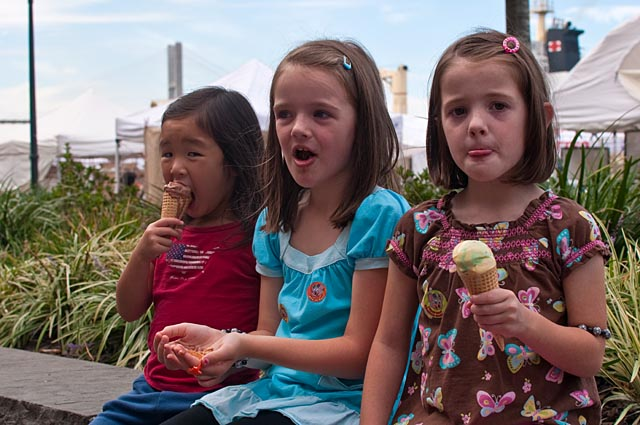 Ice Cream Eating Girls