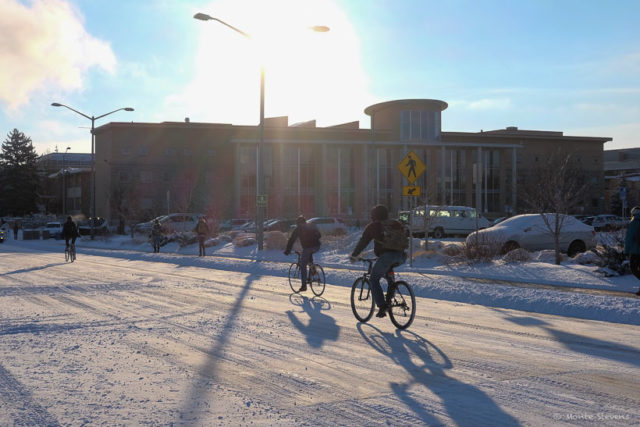 Bicyclists on Campus